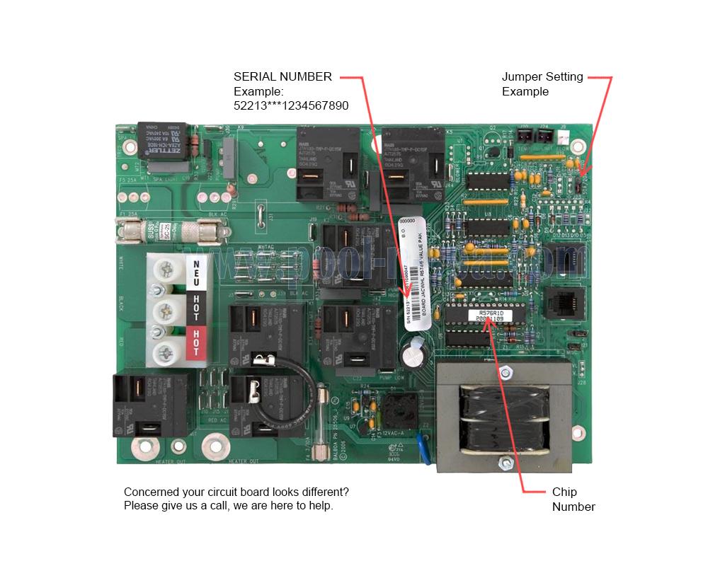 Balboa 52213 (R574R1(x), R576R1(x), R574/6R1(x)) Circuit BoardPool-n-Spa.com