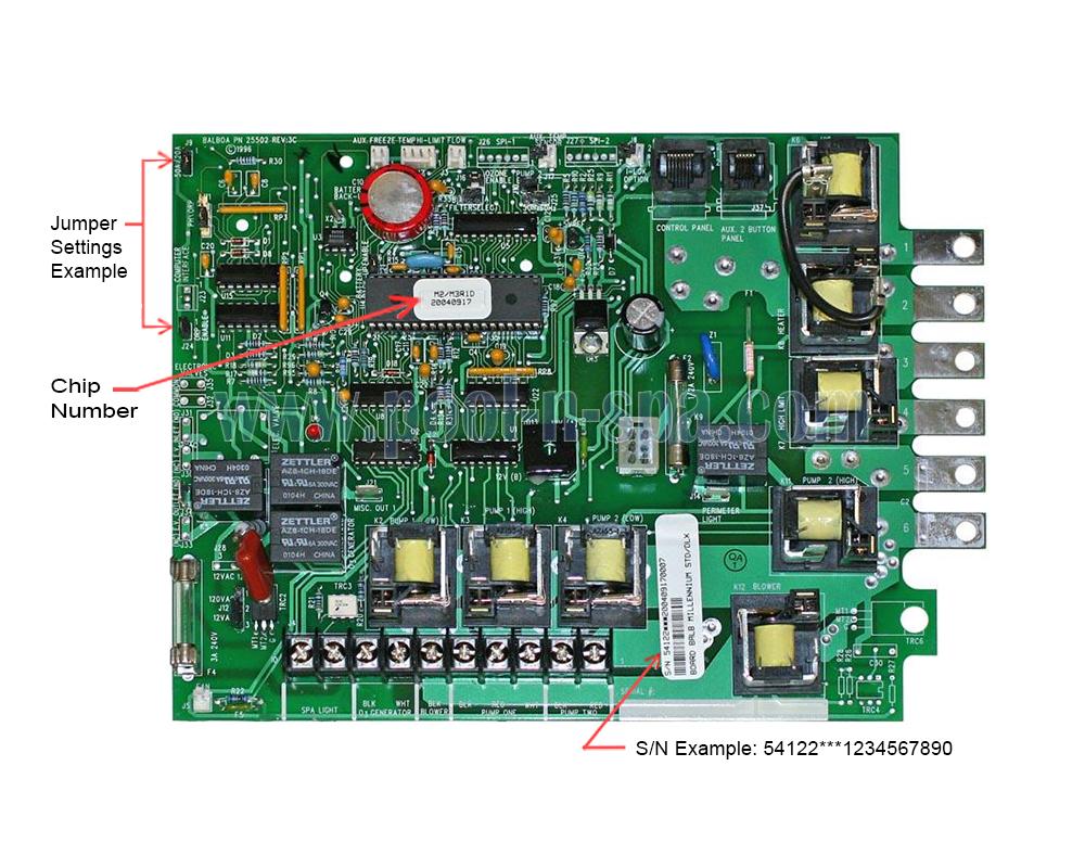 Balboa 54122 Circuit Board M2  M3r1 X