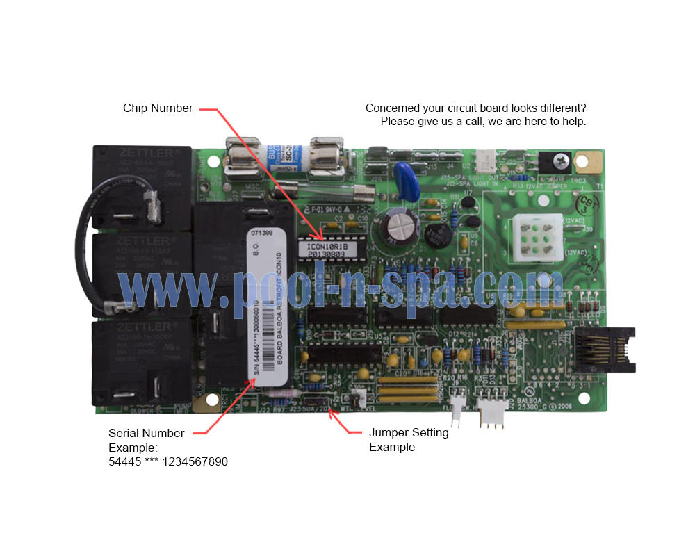 Balboa 54445 Circuit Board ICON10R1(x), Icon Spas - Click Image to Close